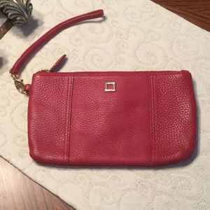 Lodis Red Leather Wristlet